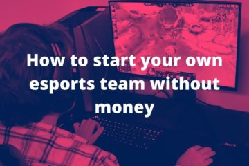 how to create your esports team without money